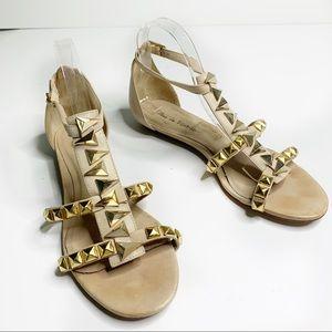 Pour La Victoire nude studded gladiator sandals